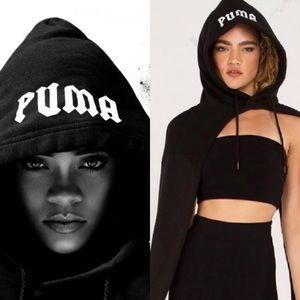 Fenty Puma by Rihanna Wrap-Up Hat Scarf Hood Black